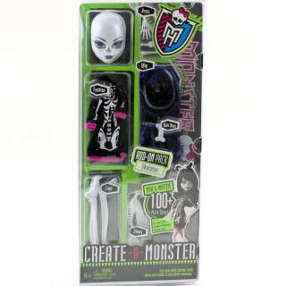 MONSTER HIGH Doll Skeleton Add On Pack Fashion Wig Legs Shoes Arms NIP