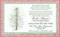 Christmas Housewarming Bridal Shower Party Invitations