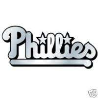 CHROME CAR EMBLEM PHILADELPHIA PHILLIES BASEBALL