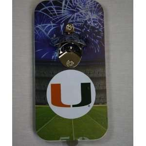 Miami Hurricanes Click N Drink Magnetic Bottle Opener