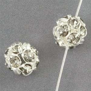 8mm Black Diamond Rhinestone Beads Arts, Crafts & Sewing