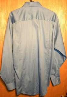 CALVIN KLEIN LONG SLEEVE BLUE DRESS SHIRT SZ 16 34/35