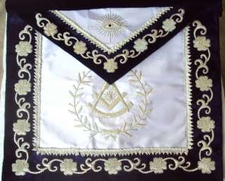 HAND EMBROIDED MASONIC PAST MASTER APRON DAX 07 NEW EDITION