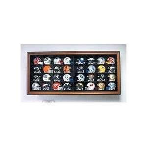 32 Mini Football Helmet Display Case with Black Frame