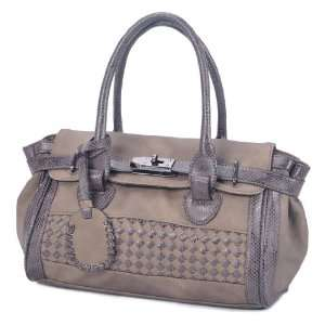 MSP00728DT Dark Taupe Deyce Canal Quality PU Women Double handle