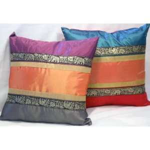 ) Mix & Match Tibetan Style Silky Cushion Pillow Cover 17/18   Dark