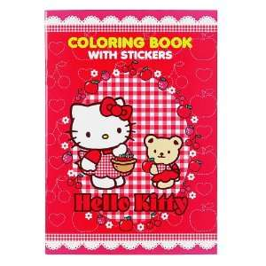 Hello Kitty Coloring Book with Stickers Red Toys & Games