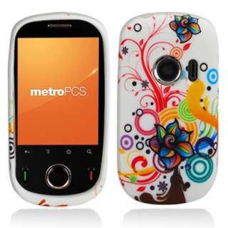 Huawei M835 MetroPCS Phone Colorful Flowers Silicone Skin Case Cover