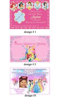 Disney Princess Birthday Invitation +FREE THANK U CARDS