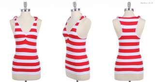 Sexy Striped Seamless Sleeveless Shirred Tank Top VARIOUS COLOR