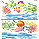 Sea World Fish Adhesive Wall STICKER Removable Decal items in