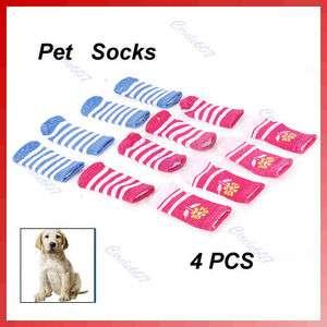 Elastic Cotton Warm Soft Dog Puppy Dogs Pet Knits Socks Anti slip Skid
