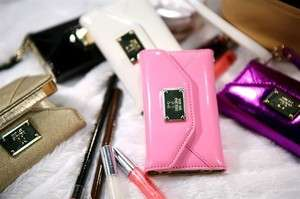 Pink Wallet Clutch Credit ID Card Flip Leather Case Cover Apple iPhone