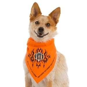 Harley Davidson Orange Dog Puppy Bandana Small