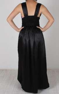 Plus Size Black Satin Dress