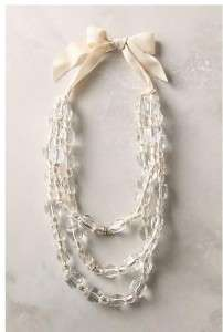 Nwt Anthropologie Crystal Palace Necklace