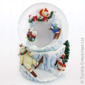 Winter Fun Musical Snow Globe and Picture Frame from Twinkle