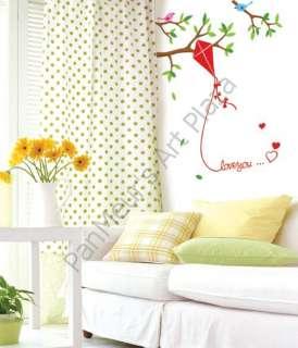 SWST 32 Flying Kite, Decals Home Art Wall Sticker KIDS