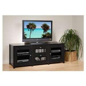 Black Santino Flat Panel Plasma/LCD TV Console   Prepac