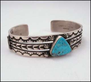 Sunshine Reeves ~ Navajo ~ Morenci Turquoise Sterling Silver Split