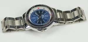 Slazenger sports watch mens blue dial rotating bezel