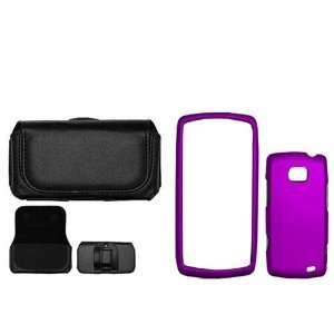 LG Ally VS740 Combo Rubber Feel Purple Protective Case