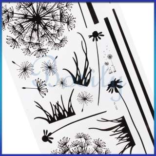 Dandelion Wall Decal Removable Wall Sticker Black Mordern Room Decor