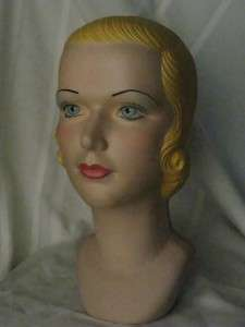 30s Vintage Style Mannequin Head Advertising Display#15