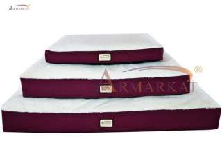 Burgundy & Ivory Heavy Duty Canvas Dog Bed Extra Large