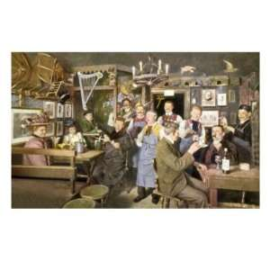 People at Bar with Drinks Giclee Poster Print, 18x24: Home