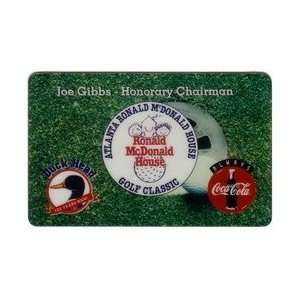 Coca Cola Collectible Phone Card 10m Ronald McDonald House Golf Coke