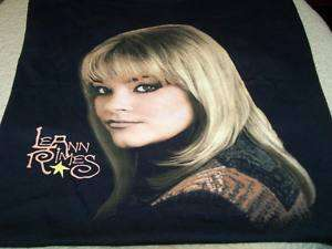 LeANN RIMES   1998 Country Concert Tour T Shirt MEDIUM
