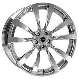 JR DMP 22x9 Chrome Wheel / Rim 5x4.5 with a 40mm Offset and a 72.60