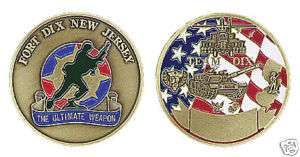 US ARMY FORT DIX NJ ULTIMATE WEAPON CHALLENGE COIN