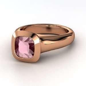 Geneva Ring, Cushion Rhodolite Garnet 14K Rose Gold Ring Jewelry