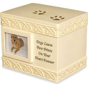 Dog Paw Prints Polystone Pet Urn