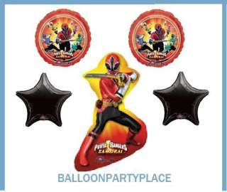 Power Rangers Samurai Red PARTY SUPPLIES BALLOON DECORATION birthday 5