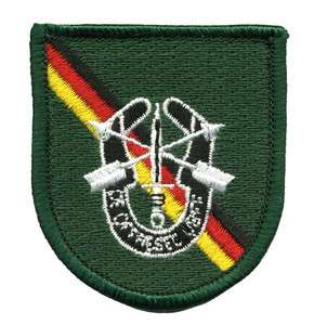 10th Special Forces Group Europe beret flash with DOL Crest