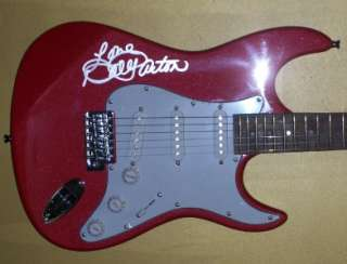 DOLLY PARTON Autographed Red Electric Guitar on Body Signed COA