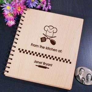 From The Kitchen Of Engraved Recipe Card Holder Album