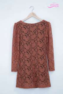 Asian Sizes XL 4XL womens elegant rose floral long sleeve lace net