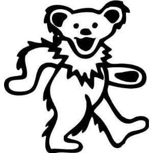 Grateful Dead Bear 6 Inch Vinyl Decal Sticker Blue