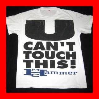 RARE MC HAMMER 1990 VTG U CANT TOUCH THIS T SHIRT RAP