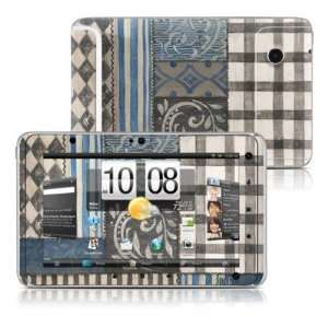 Country Chic Blue Design Protective Decal Skin Sticker for HTC Flyer