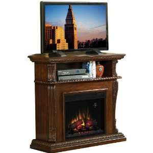 Corinth Dual Use Electric Fireplace   Vintage Cherry: Home & Kitchen