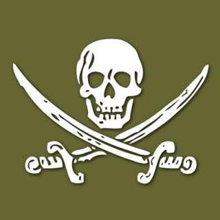 Jack Rackham Jolly Roger Pirate Vinyl Sticker VLJRJR