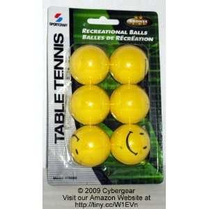 Sportcraft Recreational Yellow Table Tennis Balls (Pack of 6)