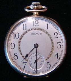 Antique Howard Watch Co. 1915 14K Yellow Gold Pocket Watch