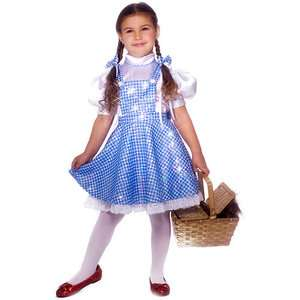 Dorothy Child Halloween Costume, Sz Plus 10 1/2 12 1/2