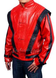 michael jackson thriller red leather jacket *XS   5XL**Sale* In Faux